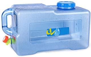 Urben Life Acampar Contenedor De Agua con Grifo 22L, Engrosamiento De La Pc, Tanque De Almacenamiento De Agua