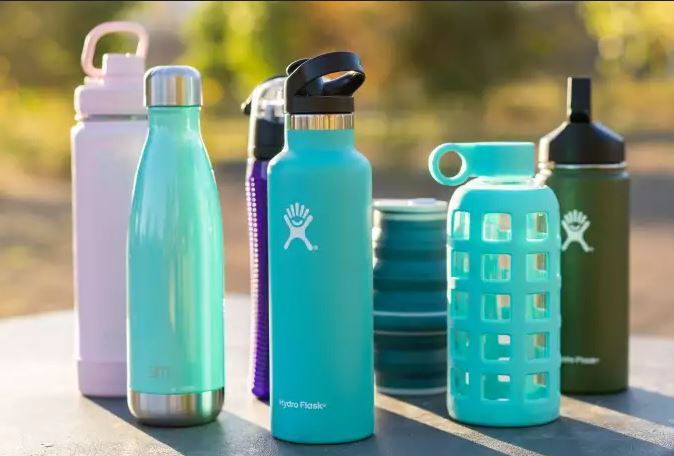 las botellas de agua reutilizables